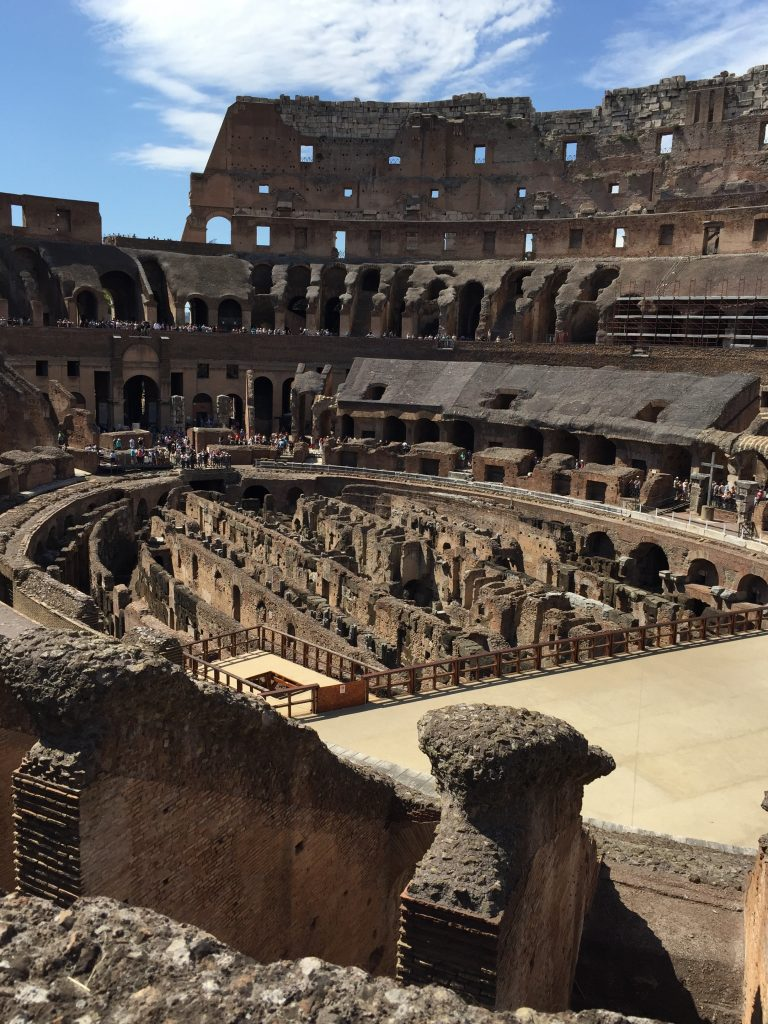 Interior shot showing floor of Colosseum