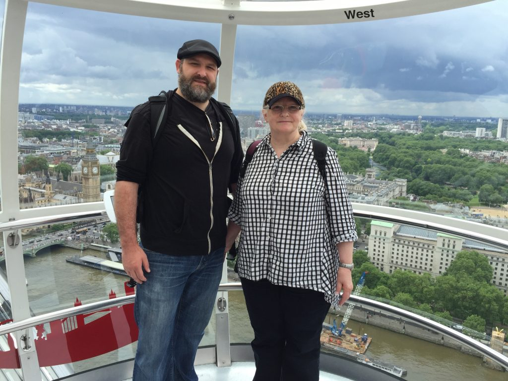 Matt- Mom London Eye 6-16-2016