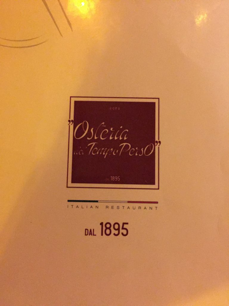 Menu-Rome-First Night