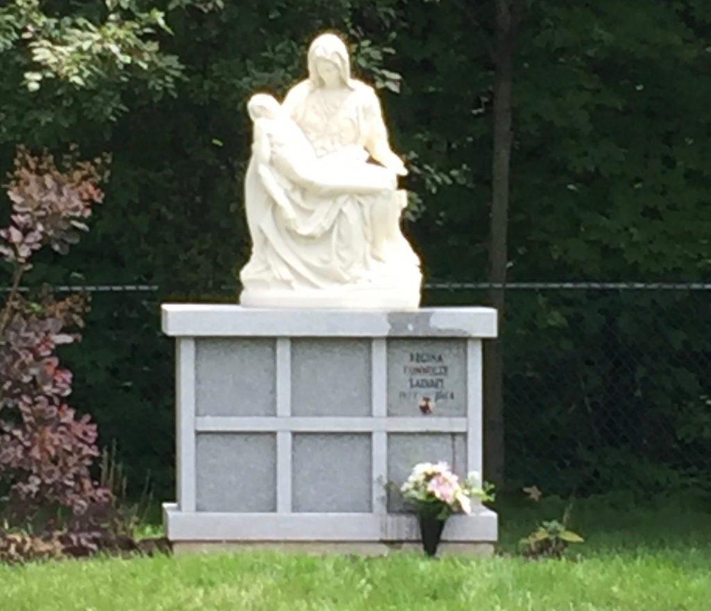 Reginas Niche at Cemetery near Vincent